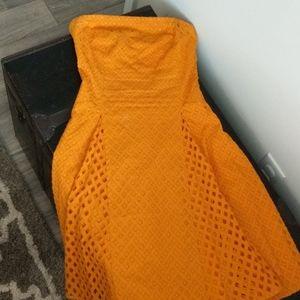 Anthropologie Maeve pumpkin color dress